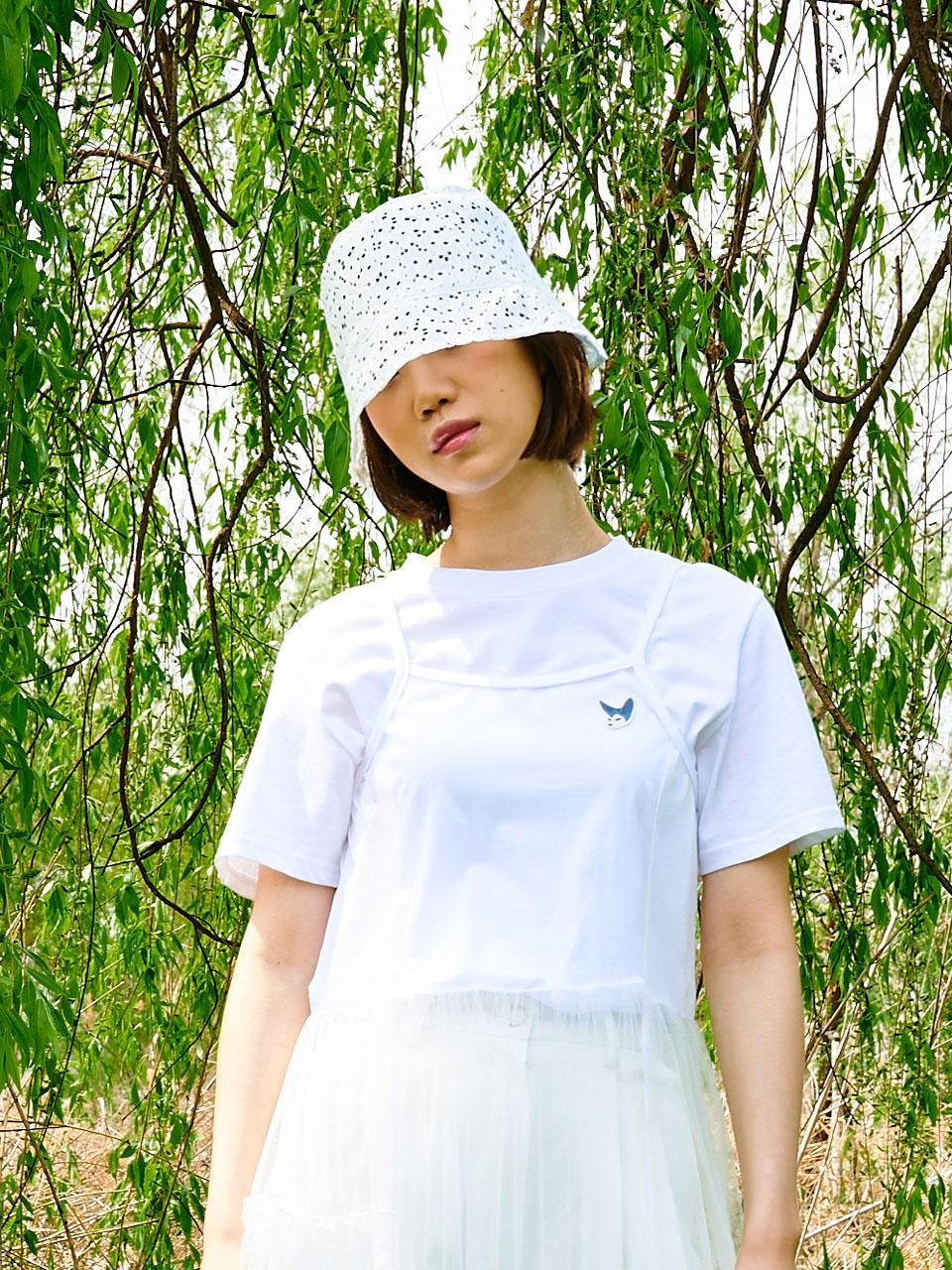 샐러드볼즈(SALAD BOWLS) LACE BUCKET HAT [WHITE]
