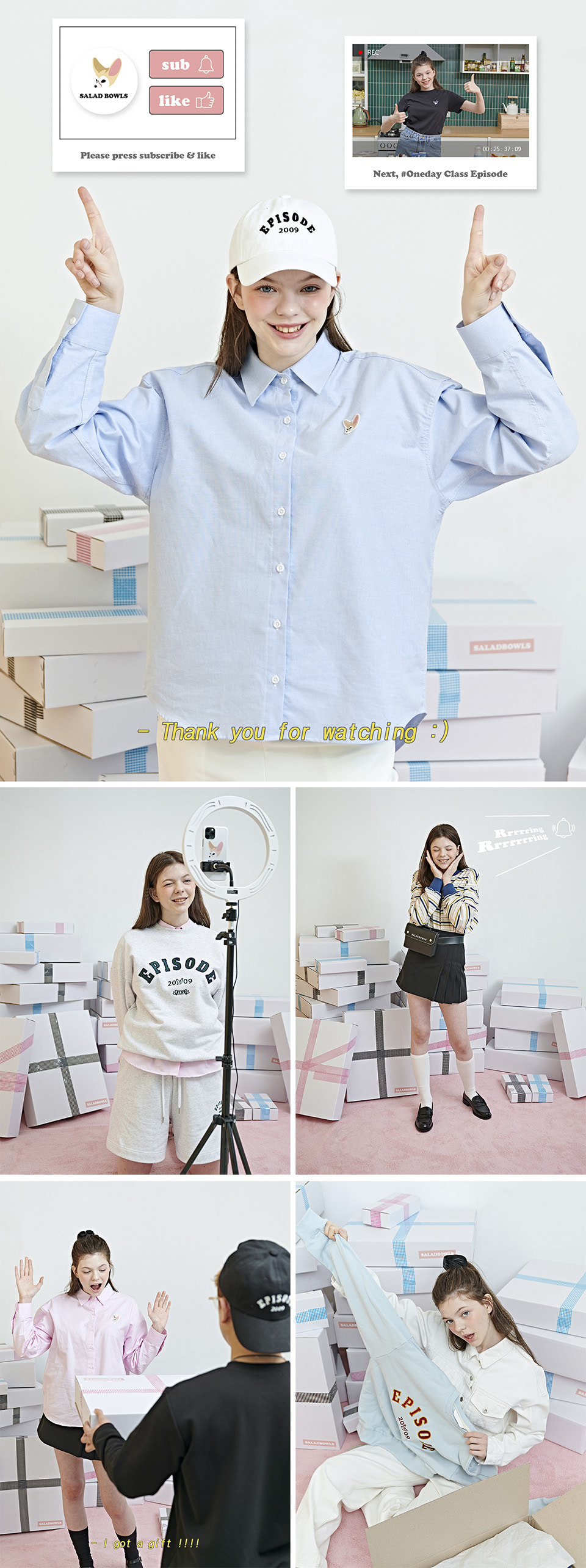 샐러드볼즈(SALAD BOWLS) SIGNATURE OXFORD SHIRTS [LYELLOW]